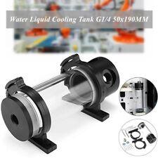 Pc Computer Liquid Cooling Acrylic Cylinder Reservoir Water Tank G1/4 50mmx190mm