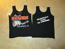 "HOOTERS AUTHENTIC SERVERS ORLANDO ""WATFORD LAKE"" TOP (SMALL) BLACK WORK/COSTUME"