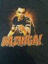 BIG BANG THEORY - Jim Parsons Sheldon Bazinga! Mens T-Shirt Small George Blue