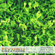 HYDROGRAPHIC FILM FOR HYDRO DIPPING WATER TRANSFER FILM GREEN FLAMES