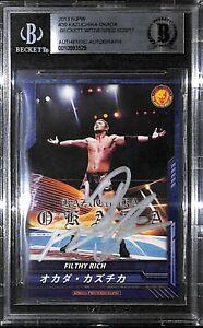 Kazuchika Okada Signed 2013 New Japan Pro Wrestling Card 39 BAS Beckett COA Auto