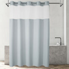 No hooks Needed Waffle Weave Shower Curtain With Snap in Liner Hotel Grade