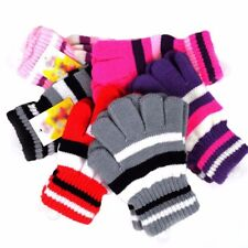 Children Girls Boys Kids Magic Elastic Knitted Gloves Mittens Winter WarmAU*`