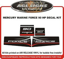 MERCURY MARINE FORCE 90 HP DECAL SET  (90'S)  reproductions