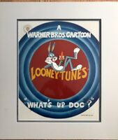 Warner Brothers Cel Bugs Bunny What's Up Doc? Signed Friz Freleng Animation Cell