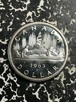1963 Canada $1 1 Dollar Lot#L4353 Large Silver Coin! High Grade! Beautiful!