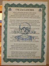 17th 21st Lancers Poem.