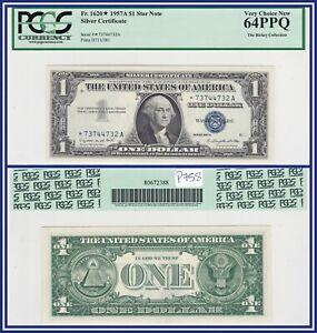 Star Note 1957A $1 Silver Certificate Dollar PCGS 64 PPQ CU Choice Uncirculated