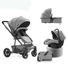 Luxury Baby Stroller 3 in 1 High View Travel Pram Folding Pushchair&Car Seat