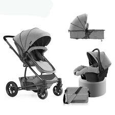 Luxury Baby Stroller 3 in 1 High View Travel Pram Folding Pushchair&Car Seat Pro