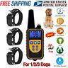 885 Yards Waterproof Dog Shock Training Collar Electronic Remote For 1/2/3 Dog