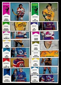 1974-75 OPC 74-75 O PEE CHEE WHA AMH HOCKEY CARD ERROR & VARIATION 1-66 SEE LIST