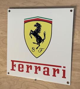 Ferrari Black  Racing Reproduction Motor Oil Gas Garage Sign