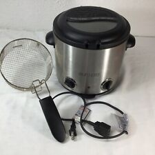 Euro Pro Electric Deep Fryer F1045 Stainless Steel Removable Basket 1000W Tested