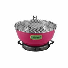 Portable Outdoor Charcoal Grill Smokeless Tabletop Temperature Controlled w/Case