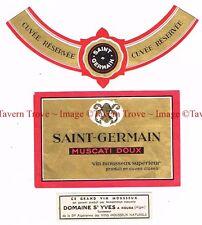 1930s Algeria Kouba Domaine St Yves SAINT GERMAIN MUSCATI DOUX WINE label