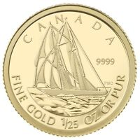 2012 Canada 50 Cents Bluenose 1/25 Ounce Gold Coin