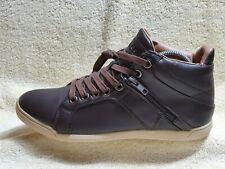 Guess GM Jakarta Ladies High Top Street trainers dark Brown/White UK 6 EUR39 US8