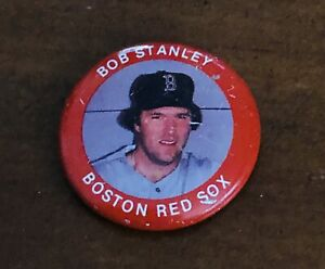 Vintage 1984 Bob Stanley Boston Red Sox MLB Button Pin #81 of 133 Fun Foods
