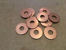 Qty 10 x COPPER WASHERS OD 21.6 mm ID 8 mm Thickness 2 mm
