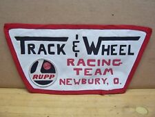 Vintage Rupp Go Kart Track and Wheel Team Racing Jacket Patch Newbury Oh