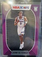 2020-21 Panini NBA Hoops #236 Jahmius Ramsey - Sac Kings ROOKIE Purple Parallel