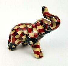 New ListingElephant Figurine American Flag La Vie Porcelain Stars Stripes Republican Usa