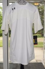 Under Armour XL T-shirt Athletic Fit Short Sleeve Soccer Gym White Chest 20.5""