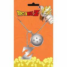 Dragonball Z Logo Dog Tag Pendant Necklace - Double Japanese Anime