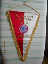 gestickter Wimpel FC Bayern München 3 Sterne Deutscher Rekordmeister ansehen top