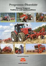 Massey Ferguson Prospekt 2002 MF 8200 MF 8900 MF 6200 MF 4300 MF 3300 Broschüre