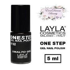 Semipermanente LAYLA ONE STEP N. 02 (100% Black) - Smalto Gel Polish EVERDREAM