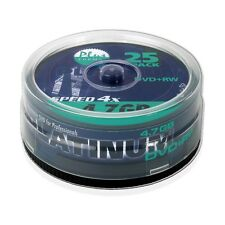 Platinum 4,7 GB DVD+RW DVD-Rohlinge (4x Speed, 120 Min) in 25er Spindel / 100603