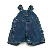 Vintage Baby B'gosh Oshkosh  Vestbak Toddler Denim Shortalls Size 6-9 months