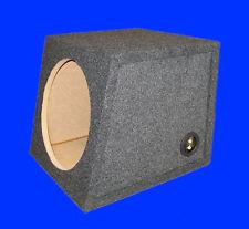 "8"" SINGLE SLANTFRONT 3/4 MDF .40 CU.FT GREY SUBWOOFER SUB ENCLOSURE BOX"