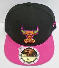 New Era 59 Fifty Niños Windy City Neón Corona Chicago Bull Cap/Hat-Nuevo
