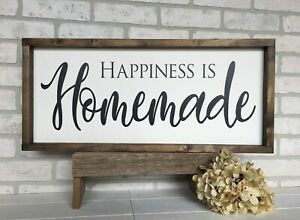 Farmhouse sign, Happiness is Homemade, 25 x 11 inches
