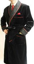 Men Black Smoking Jackets Designer Quilted Dinner Party Wear Long Coats