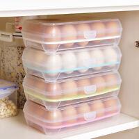 15 porte-oeufs récipient de rangement en plastique réfrigérateur ZH
