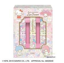 DHC Medicated Lip Cream Sanrio 3 Pics Limited Set from Japan F/S with Track