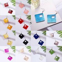 Boho Women Diamond Leather Long Earrings Ear Stud Hook Drop Dangle Jewelry Gift
