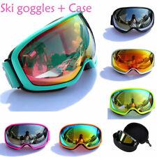 Winter Unisex Adults Ski Snow Goggles Anti-fog UV400 Snowboard Skiing Goggle