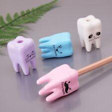 2Pc Creative Tooth Teeth Shape Pencil Pointer Sharpener Mechanical School Supply