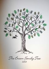 Personalised Family Fingerprint / Thumbprint Tree- Christmas/ Christening Gift