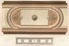Décoration Plafond Saint Honoré Paris Architecture César Daly lithographie XIXe