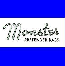 # # Nuevo Diseño-MONSTER pretender bajo la etiqueta con el logotipo ideal para tu pretender! #