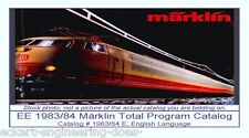 EE 1983/84 D Marklin Total Catalog Years 1983 1984 VG Condition Class 103 Photo