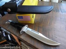 "10 1/2"" BUCK KNIFE 119 SPECIAL 420HC STAINLESS BLADE-THE BEST BLACK HANDLE U.S.A"