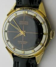 Old wrist watch Ancora permaspring 21 jewels in gold plated diam. 33.4 mm