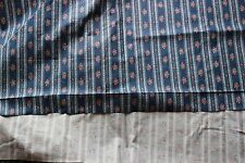 5.5 Yards Wellman American Legacy 1982 Yale Frances Forman Blue Floral Fabric
